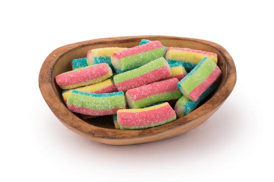 Sugared Rainbow Logs