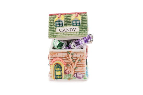 Ceramic House With Chocolates