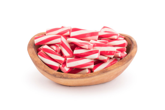 Red and white Gummy Logs