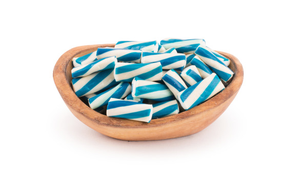 Blue and White Gummy Logs