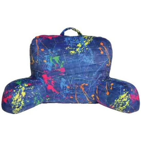 Denim Paint Splatter Lounge Pillow