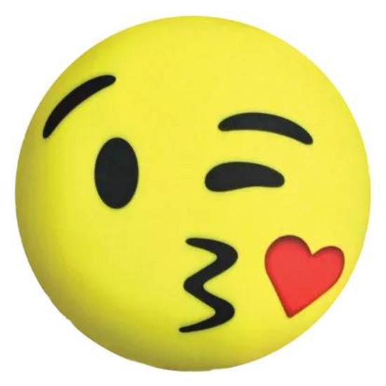 Emoji Kissy Heart Microbead Pillow