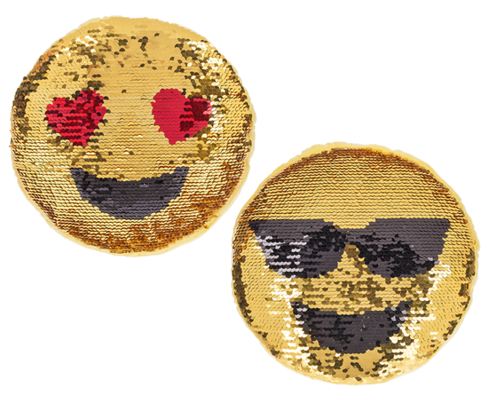 Emoji Sequin Pillow