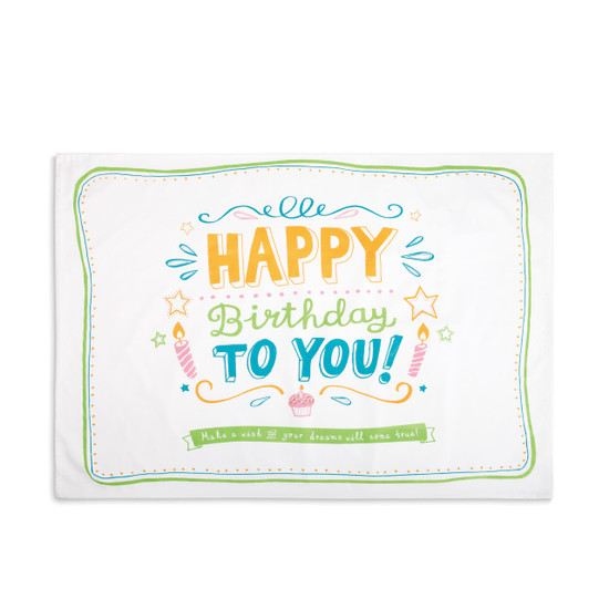 Happy Birthday Pillowcase