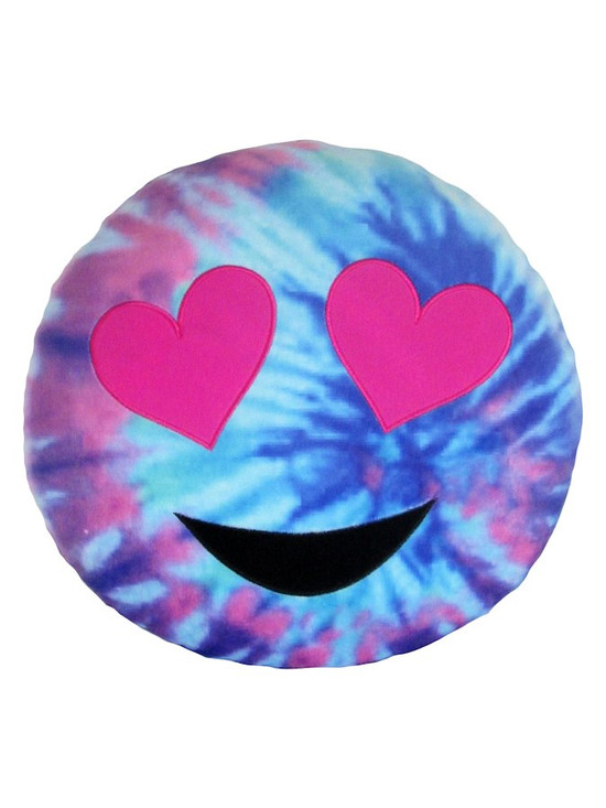Emoji Tye-Dyed Pillow