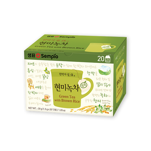 SEMPIO Green Tea with Brown Rice [20T] (1.5g*20tb)*20