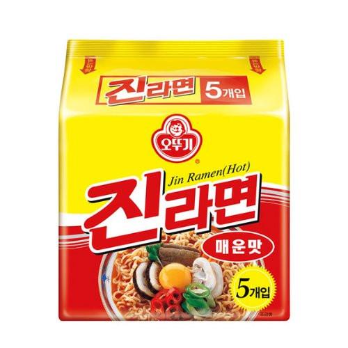 OTTOGI Jin Ramen Multi [Spicy] 120g*5*8
