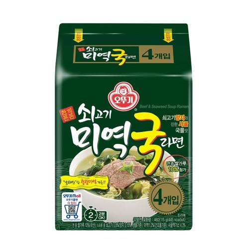 OTTOGI Beef Seaweed Soup Ramen Multi 115g*4*8