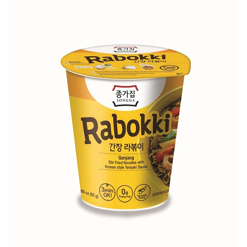 JONGGAJIP Soy Sauce Rabboki Cup 86g*6