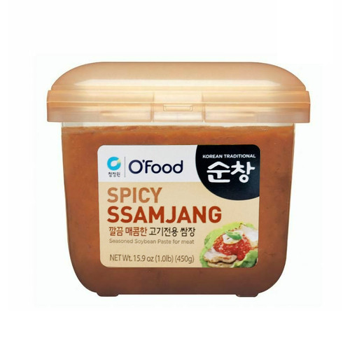CHUNGJUNGWON Sunchang Seasoned Soybean Paste for BBQ Spicy 450g*12