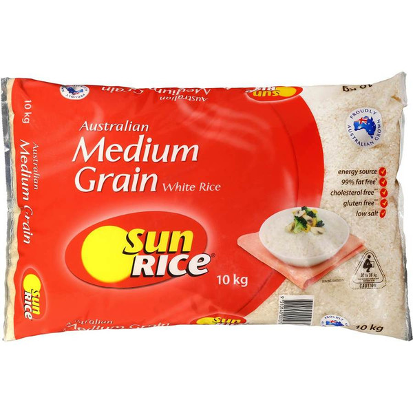 Sunrice Calrose White Rice 10kg