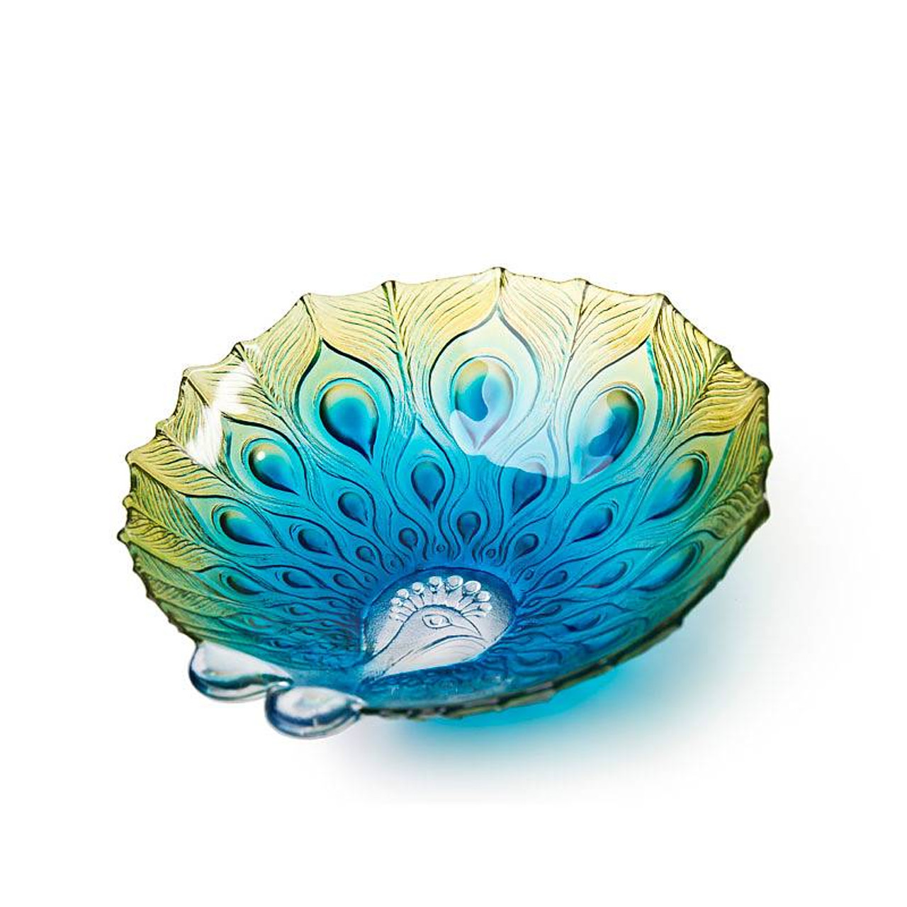 Peacock Bowl Large By Mats Jonasson Iapetus Gallery