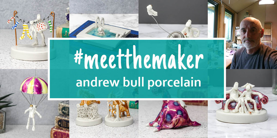 Meet the Maker - Andrew Bull and his quirky porcelain miniature sculptures