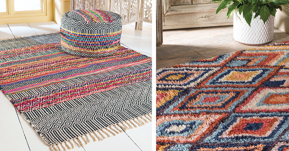 Discover Namaste's Fair Trade Rug Shop exclusively at iapetus gallery, Great Malvern - 10th September until 3rd October 2020