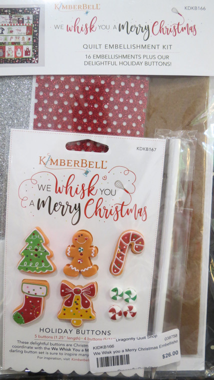 We Whisk You a Merry Christmas Embellishment Kit - goes with book We Whisk You a Merry Christmas