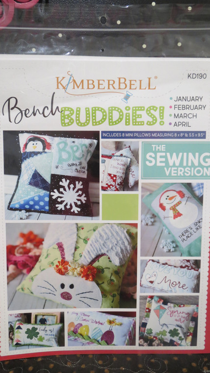 Bench Buddies:  January, February, March, & April   (sewing version)