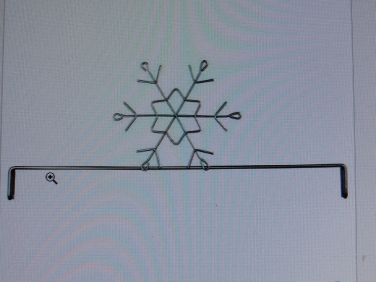 """12"""" Snowflake  Header for 12"""" X 14"""" stand (sold separately)"""