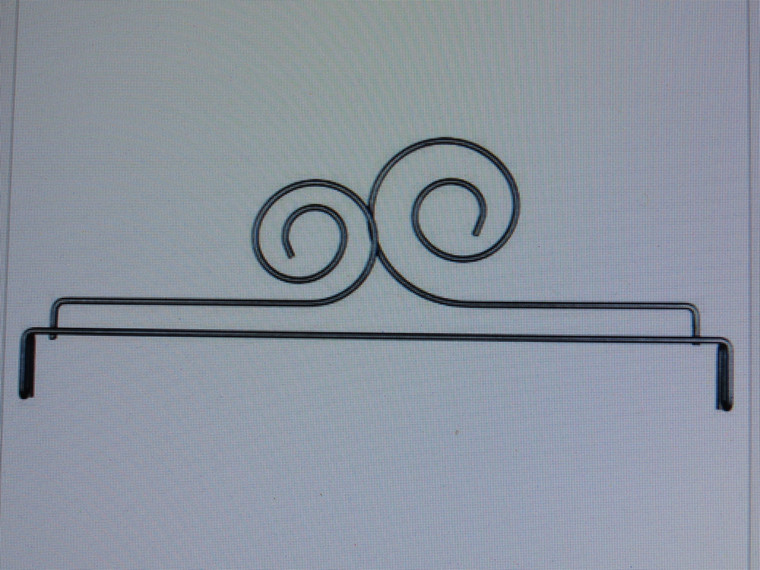 """12""""  Double Scroll Header for 12"""" X 14"""" stand (sold separately)"""