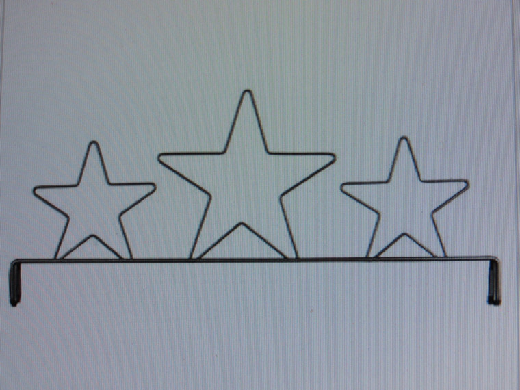 "22"" Three Stars Fabric Holder"