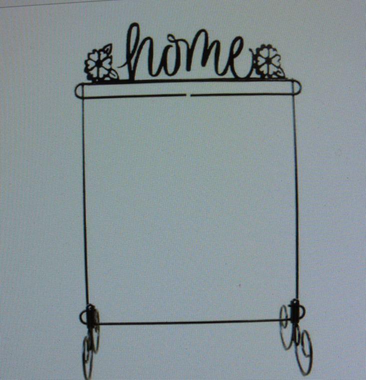 """12"""" X 14"""" Stand with ' Home' Topper"""