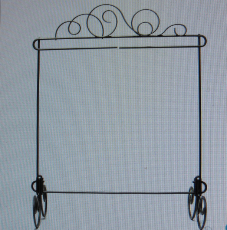 "11.5"" X 11.5"" Stand with Meandering top"