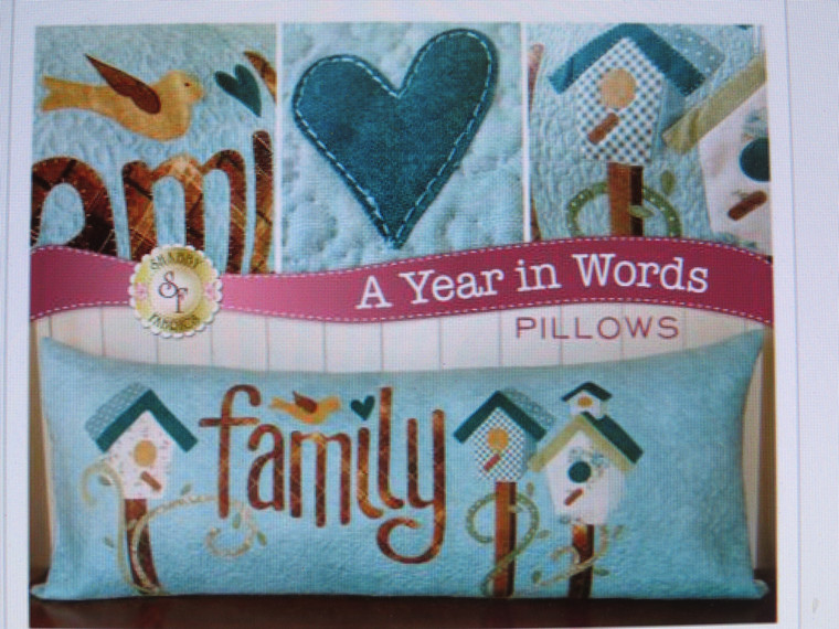 """A Year in Words - """"Family"""" Pillow"""