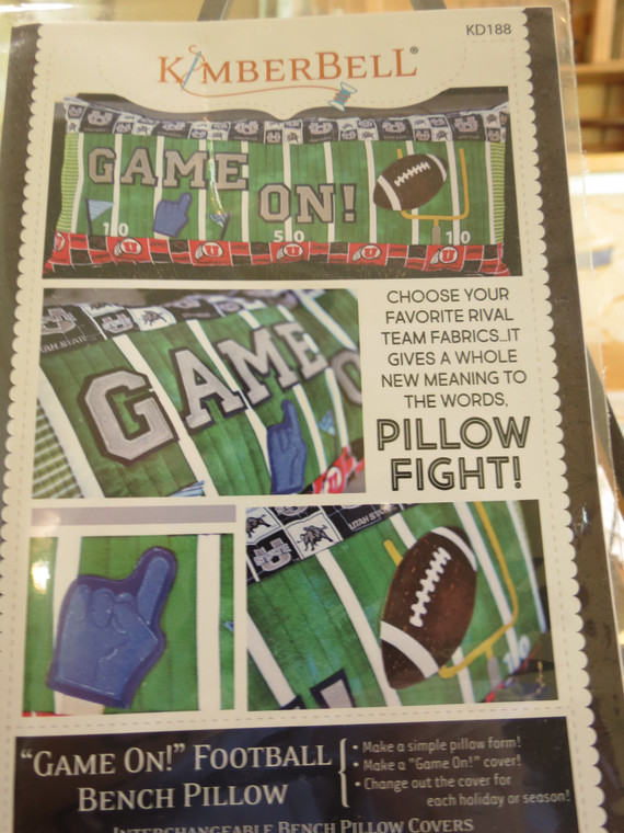 GAME ON! Football Bench Pillow