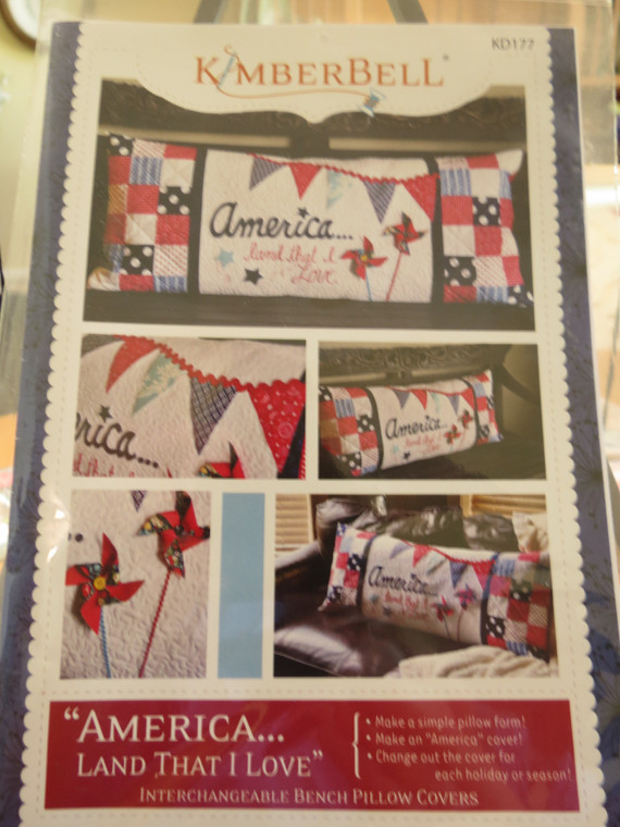 """""""America..Land that I Love""""  Bench Pillow"""