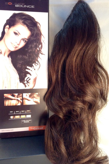 Clip on in 2 minutes 100% Human soft curls.