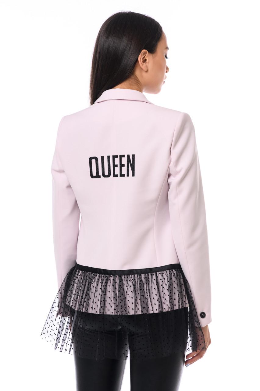 """""""QUEEN"""" Pink Blazer with peplum SEVEN LAB"""