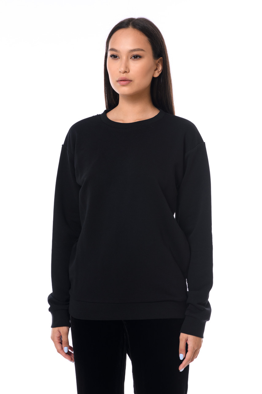 """QUEEN"" Black sweatshirt with mesh SEVEN LAB"