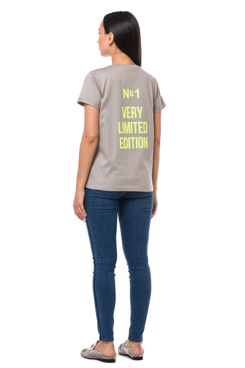 """""""N1 VERY LIMITED EDITION"""" T-shirt with shiny inscription SEVEN LAB"""
