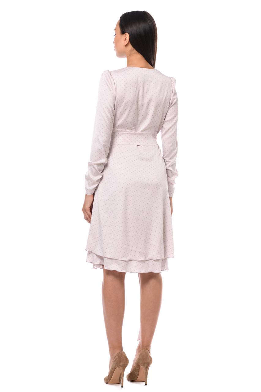 Light polka dot dress of medium length SEVEN LAB