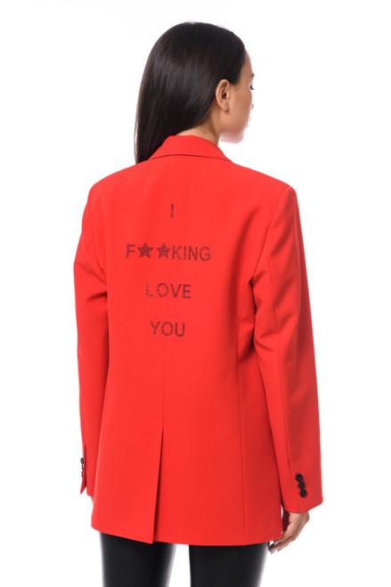 """F**KING LOVE YOU""   Red Blazer SEVEN LAB"