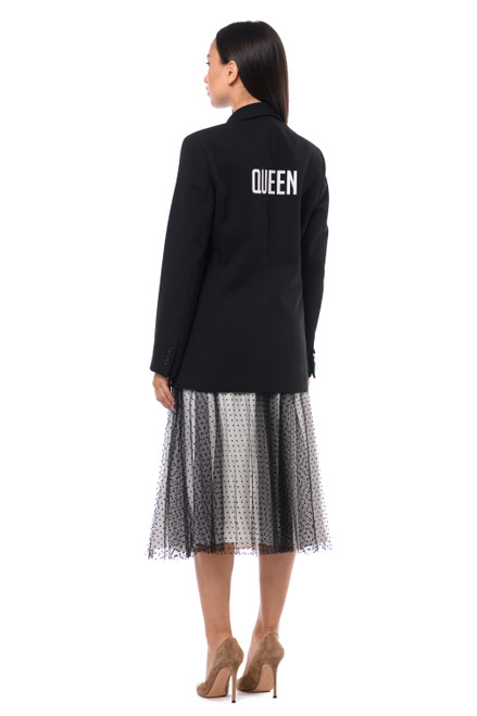 """QUEEN""    Black Blazer SEVEN LAB"