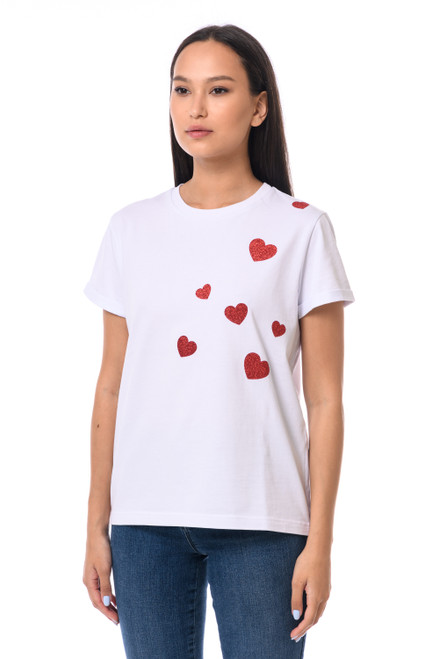 """""""RED HEART"""" T-shirt  SEVEN LAB"""