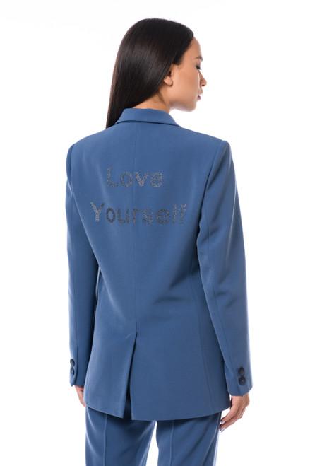 """LOVE YOURSELF"" Navy Blazer SEVEN LAB"
