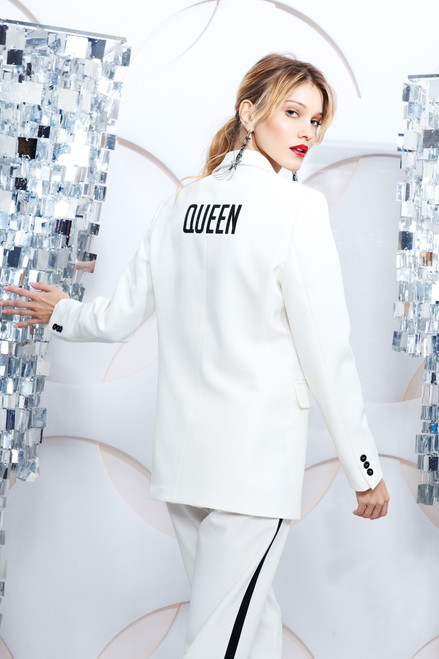 """QUEEN"" White Blazer SEVEN LAB"