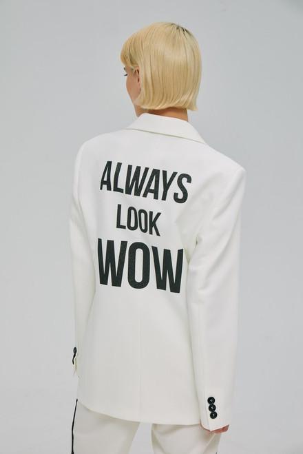 """""""ALWAYS LOOK WOW""""   White Blazer SEVEN LAB"""