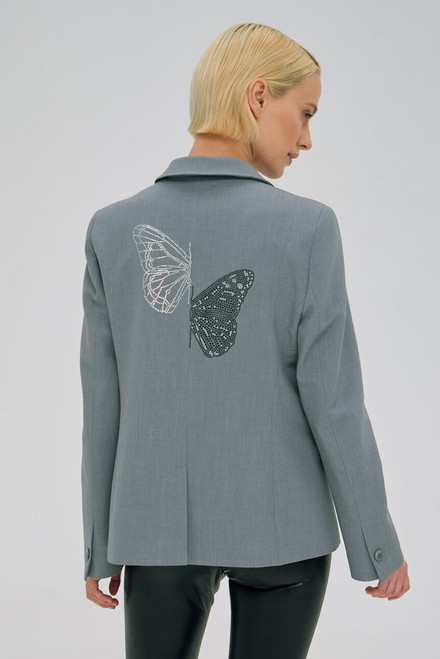 """BUTTERFLY of CRYSTALS"" grey Blazer SEVEN LAB"