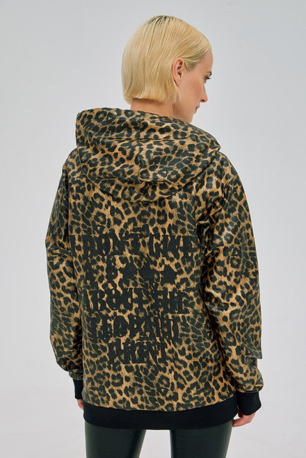 """""""I DON'T GIVE A F***ABOUT LEOPARD PRINT"""" Hoodies SEVEN LAB"""
