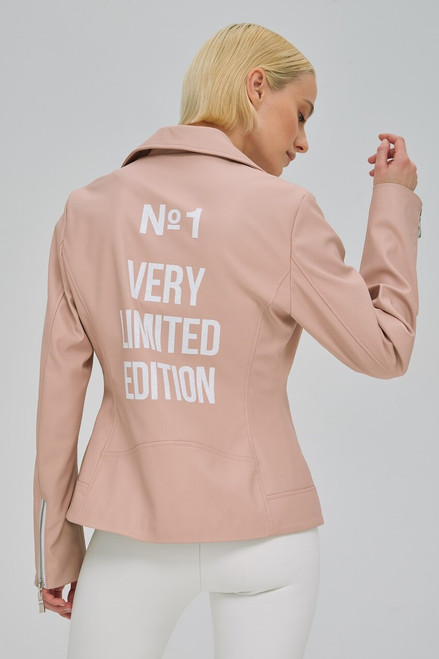 """N1 VERY LIMITED EDITION"" Pink leather jacket SEVEN LAB"