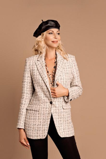 """""""QUEEN"""" Beige tweed blazer SEVEN LAB"""