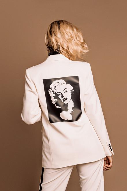 """IMAGE of MARILYN MONROE"" White Blazer SEVEN LAB"
