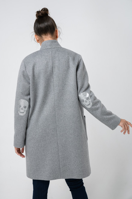 """""""SKULL ON THE ELBOWS """" Coat SEVEN LAB"""