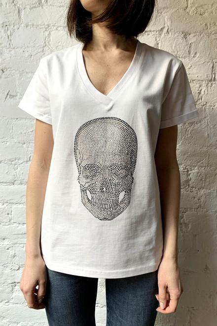 """THE SKULL OF RHINESTONES"" T-shirt SEVEN LAB"