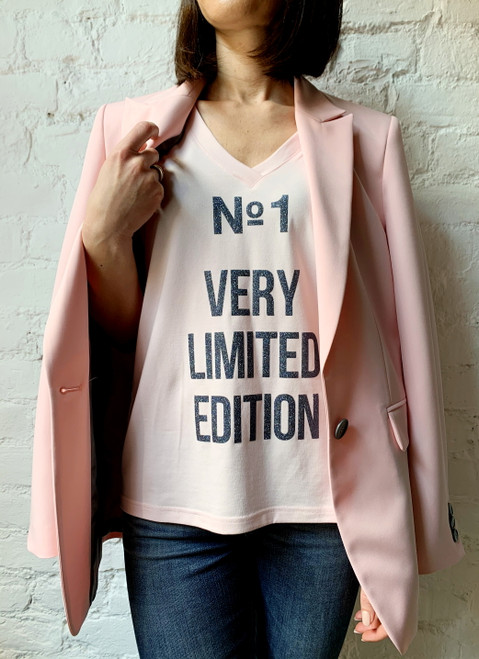 """""""N1 VERY LIMITED EDITION"""" T-shirt with shiny lettering on the front SEVEN LAB"""