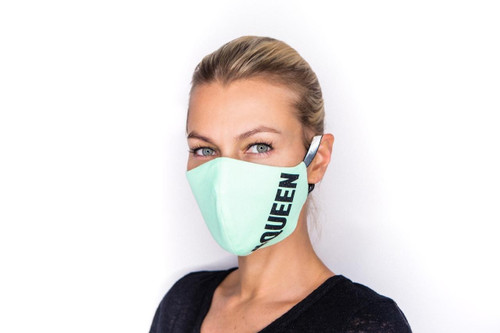 Queen of everything mask in teal