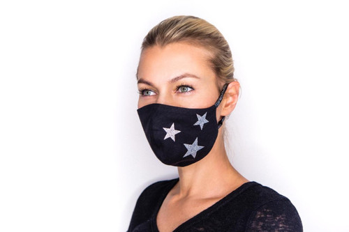 Disco Star mask in black