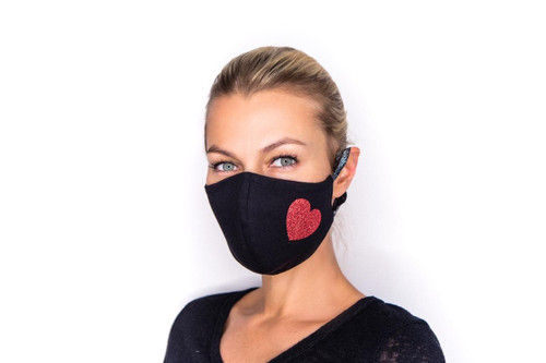 Queen of Hearts mask in black